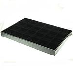 Moda bizhuteri Display, Karton, Drejtkëndësh, asnjë, asnjë, e zezë, 240x350x30mm, 5PC/Qese,  Qese