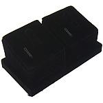 Display Velveteen Ring, Shape Tjera, asnjë, e zezë, 96.50x52x43mm, 5PC/Qese,  Qese
