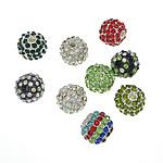 Beads bizhuteri Diamant i rremë, Round, asnjë, me diamant i rremë, ngjyra të përziera, 10.50mm, : 2.2mm, 50PC/Qese,  Qese