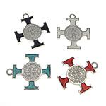 Alloy zink Pendants Kryqi, ngjyra të përziera, , nikel çojë \x26amp; kadmium falas, 25x25.80x3mm, : 2.5mm, 100PC/Qese,  Qese