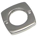 Stainless Steel Connector, Katror, argjend, 13.50x13.50x2mm, : 1mm, 100PC/Shumë,  Shumë