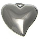 Pendants Stainless Steel bizhuteri, Zemër, 16x16x5mm, : 1.5mm, 50PC/Shumë,  Shumë