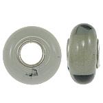 Lampwork Style European, Rondelle, core bronzi vetme pa karrem, 13x7mm, : 4.5mm, 20PC/Qese,  Qese