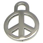 Pendants Stainless Steel bizhuteri, Round Flat, 14x19x1.50mm, : 3mm, 100PC/Shumë,  Shumë