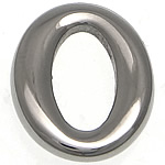 Stainless Steel Connector, Oval, argjend, 12x14.50x3mm, : 5x10mm, 50PC/Shumë,  Shumë