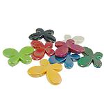 AB-ngjyra akrilik Beads kromuar, Flutur, Ngjyra AB kromuar, ngjyra të përziera, 46x35x7.50mm, : 3mm, 71PC/Qese,  Qese
