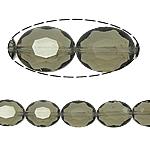 Beads Ovale Crystal, Kristal, asnjë, Greige, 12x16x8mm, : 2mm, :15.7Inç, 25PC/Fije floku,  15.7Inç,