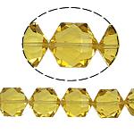Gjashtëkëndësh Beads Crystal, Kristal, Diell, 13x16x11mm, : 1.5mm, :12Inç, 20PC/Fije floku,  12Inç,