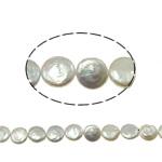 Monedhë Beads ujërave të ëmbla kulturuar Pearl, Pearl kulturuar ujërave të ëmbla, AA, 10-11mm, : 0.8mm, :15Inç,  15Inç,