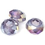 European Beads Crystal, Kristal, Rondelle, pa karrem, Lt Amethyst, 8-9x14-15mm, : 6mm, 100PC/Qese,  Qese