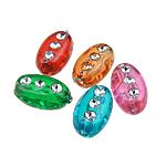 Theks Silver Beads akrilik, Oval, theks argjendi, ngjyra të përziera, 6x10x5mm, : 1.5mm, 3400PC/Qese,  Qese