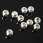 925 Sterling Silver Beads, Rondelle, argjend praruar vërtetë, 2mm, : 1mm, 500PC/Qese,  Qese