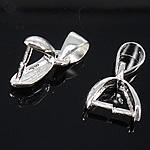 925 Sterling Silver varëse dorëzani, Shape Tjera, argjend praruar vërtetë, asnjë, asnjë, 10.60x9.50x4mm, : 5x4mm, 10PC/Qese,  Qese