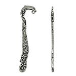 Alloy zink Bookmark, Gjarpër, Ngjyra antike argjendi praruar, asnjë, , nikel çojë \x26amp; kadmium falas, 20x82x4mm, : 2mm, 10PC/Qese,  Qese
