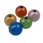 Beads akrilik Mrekulli, Round, ngjyra të përziera, 8mm, : 2mm, 1750PC/Qese,  Qese