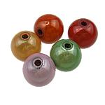 Beads akrilik Mrekulli, Round, ngjyra të përziera, 14mm, : 2.5mm, 335PC/Qese,  Qese