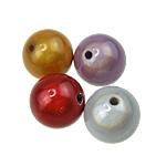 Traumhafte Acrylperlen, Acryl, rund, gemischte Farben, 25mm, Bohrung:ca. 3mm, 61PCs/Tasche, verkauft von Tasche