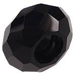 European Beads Crystal, Kristal, Rondelle, pa karrem, Reaktiv, 8-9x14-15mm, : 6mm, 100PC/Qese,  Qese