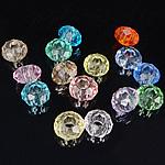 European Beads Crystal, Kristal, Rondelle, pa karrem, ngjyra të përziera, 8-9x14-15mm, : 6mm, 100PC/Qese,  Qese