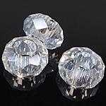 European Beads Crystal, Kristal, Rondelle, pa karrem, Kristal, 8-9x14-15mm, : 6mm, 100PC/Qese,  Qese