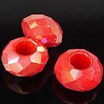 European Beads Crystal, Kristal, Rondelle, pa karrem, Zymbyl, 8-9x14-15mm, : 6mm, 100PC/Qese,  Qese