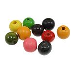 Beads druri, Round, i lyer, ngjyra të përziera, 11x12mm, : 2.5mm, 1666PC/Qese,  Qese