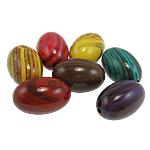 Beads Printime akrilik, Oval, ngjyra të përziera, 19.50x30mm, : 2mm, 75PC/Qese,  Qese