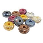 Beads Printime akrilik, Numërator, ngjyra të përziera, 17x8mm, : 4.5mm, 290PC/Qese,  Qese