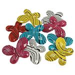 Beads akrilik të përziera, Kafshë, ngjyra të përziera, 30x22.50x4mm, : 2mm, 300PC/Qese,  Qese