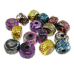 Beads akrilik të përziera, Rondelle, ngjyra të përziera, 16x10mm, : 4mm, 270PC/Qese,  Qese