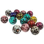 Beads akrilik të përziera, Round, ngjyra të përziera, 12mm, : 2mm, 560PC/Qese,  Qese