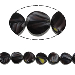 Millefiori Perlen, Kristall, Twist, dunkelviolett, 14x7mm, Bohrung:ca. 2mm, 25PCs/Strang, verkauft per 13.7 ZollInch Strang
