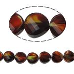 Millefiori Perlen, Kristall, Twist, 14x7mm, Bohrung:ca. 2mm, 25PCs/Strang, verkauft per 13.7 ZollInch Strang