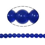 Beads Round Crystal, Kristal, Dark Sapphire, 10mm, : 2mm, :12Inç, 10Fillesat/Qese,  Qese
