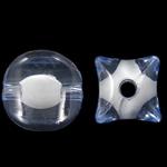 Bead në Beads akrilik Bead, Shape përziera, bead bead në, ngjyra të përziera, 10x11mm, : 2mm, 500PC/Qese,  Qese
