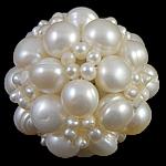 Cluster Ball Beads kulturuar Pearl, Pearl kulturuar ujërave të ëmbla, Round, 34mm,  PC