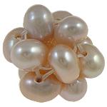 Cluster Ball Beads kulturuar Pearl, Pearl kulturuar ujërave të ëmbla, Round, 12mm, 10PC/Qese,  Qese