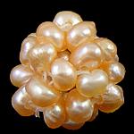 Cluster Ball Beads kulturuar Pearl, Pearl kulturuar ujërave të ëmbla, Round, 13mm, 10PC/Qese,  Qese