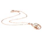Ujërave të ëmbla Pearl gjerdan Zinxhiri tunxh, Pearl kulturuar ujërave të ëmbla, Round, natyror, rozë, 20x37mm, 12-13mm, :17Inç,  17Inç,