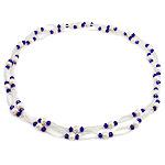 Ujërave të ëmbla Pearl gjerdan Crystal, Pearl kulturuar ujërave të ëmbla, with Kristal & Seed Glass Beads, natyror, 6-7mm, :45.5Inç,  45.5Inç,