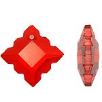 Crystal Pendants, 22x7mm, : 1mm, 10PC/Qese,  Qese