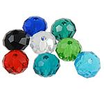 Rondelle Beads Crystal, Kristal, ngjyra të përziera, 8x6mm, : 1mm, 500PC/Qese,  Qese