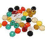 Rondelle Beads Crystal, Kristal, ngjyra të përziera, 4x3mm, : 1mm, 500PC/Qese,  Qese