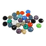 Rondelle Beads Crystal, Kristal, ngjyra të përziera, 6x4mm, : 1mm, 500PC/Qese,  Qese