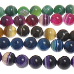 Beads Natyrore agat Lace, dantella agat, Round, 6mm, : 1mm, : 15Inç, 5Fillesat/Shumë,  Shumë
