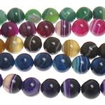 Beads Natyrore agat Lace, dantella agat, Round, 8mm, : 1mm, : 15Inç, 5Fillesat/Shumë,  Shumë