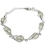 Kulturuar ujërave të ëmbla Pearl byzylyk, Pearl kulturuar ujërave të ëmbla, e bardhë, 8x26mm, :7.5Inç, 10Fillesat/Qese,  Qese