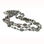 Ujërave të ëmbla Pearl gjerdan Crystal, Pearl kulturuar ujërave të ëmbla, with Kristal, Nuggets, natyror, AA, 5-6mm, :18Inç,  18Inç,