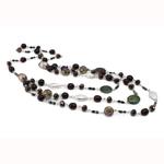 Ujërave të ëmbla Pearl gjerdan Crystal, Pearl kulturuar ujërave të ëmbla, with Kristal, Shape Tjera, natyror, Një, 8mm, :17Inç,  17Inç,