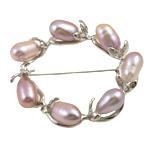 Pearl ujërave të ëmbla karficë, Pearl kulturuar ujërave të ëmbla, Petull e ëmbël në formë gjevreku, rozë, 7-8mm,  PC